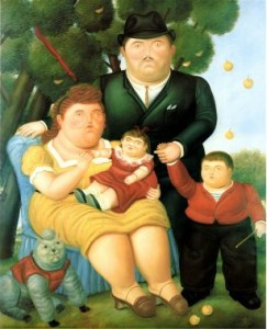 Fernando-Botero-family-oil-painting-reproduction